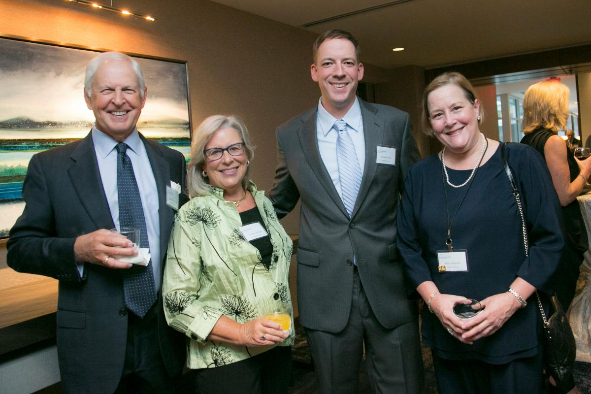 L to R  Board members Gordon and Nancy Wright, Bryan Cless and Ross Harris