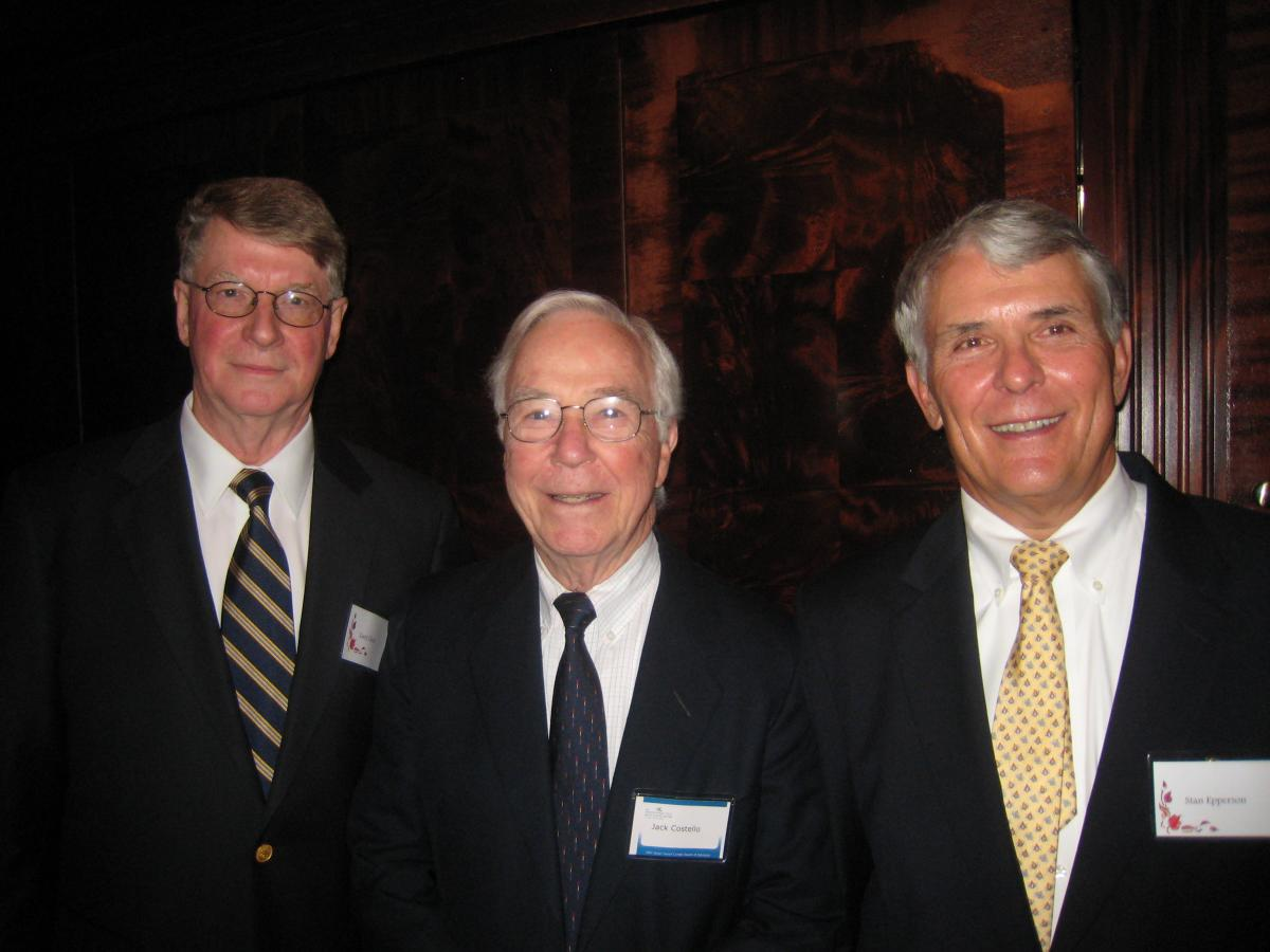 Past Chairs of Duke Brain Tumor Program Board of Advisors, Gary Cless, Jack Costello and Stan Epperson