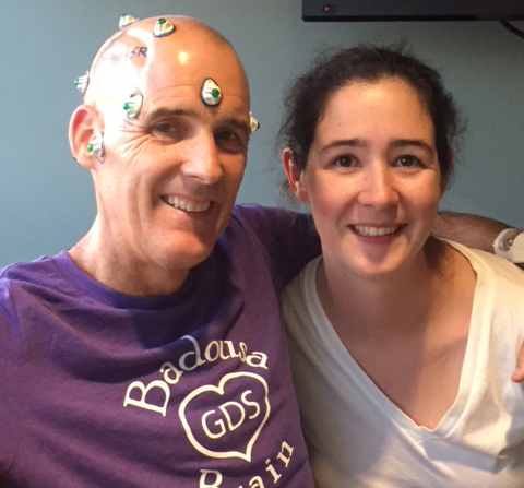 O'Donnell with his daughter, Kerry, before his most recent surgery.