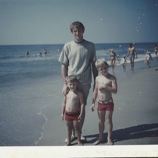 Melvin McCall with his sons, Lee and Shawn. Myrtle Beach, 1972.