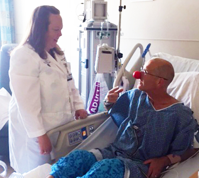 Katherine Peters, MD, PhD, is O'Donnell's neuro-oncologist and friend. She believes O'Donnell's optimism has played a significant role in his recovery.